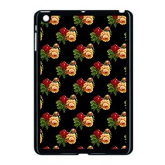 Vintage Roses Wallpaper Pattern Apple Ipad Mini Case (black)