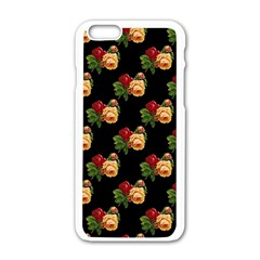 Vintage Roses Wallpaper Pattern Apple Iphone 6/6s White Enamel Case