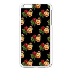 Vintage Roses Wallpaper Pattern Apple Iphone 6 Plus/6s Plus Enamel White Case