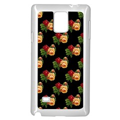Vintage Roses Wallpaper Pattern Samsung Galaxy Note 4 Case (white)