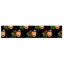 Vintage Roses Wallpaper Pattern Flano Scarf (small) by Nexatart