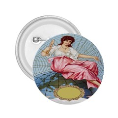 Vintage Art Collage Lady Fabrics 2.25  Buttons