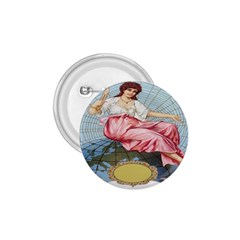 Vintage Art Collage Lady Fabrics 1.75  Buttons