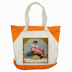 Vintage Art Collage Lady Fabrics Accent Tote Bag