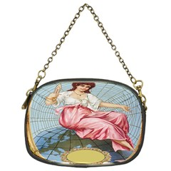 Vintage Art Collage Lady Fabrics Chain Purses (One Side)