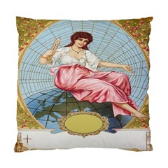 Vintage Art Collage Lady Fabrics Standard Cushion Case (Two Sides)