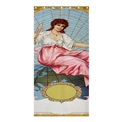 Vintage Art Collage Lady Fabrics Shower Curtain 36  x 72  (Stall)