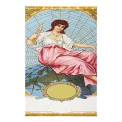 Vintage Art Collage Lady Fabrics Shower Curtain 48  x 72  (Small)
