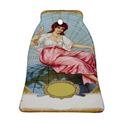 Vintage Art Collage Lady Fabrics Bell Ornament (Two Sides)
