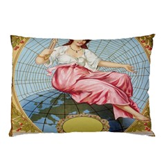 Vintage Art Collage Lady Fabrics Pillow Case (Two Sides)