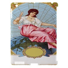 Vintage Art Collage Lady Fabrics Apple iPad 3/4 Hardshell Case (Compatible with Smart Cover)