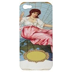 Vintage Art Collage Lady Fabrics Apple iPhone 5 Hardshell Case