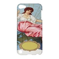 Vintage Art Collage Lady Fabrics Apple iPod Touch 5 Hardshell Case