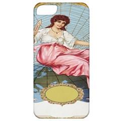 Vintage Art Collage Lady Fabrics Apple iPhone 5 Classic Hardshell Case
