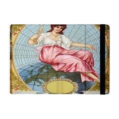 Vintage Art Collage Lady Fabrics Apple iPad Mini Flip Case