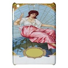 Vintage Art Collage Lady Fabrics Apple iPad Mini Hardshell Case