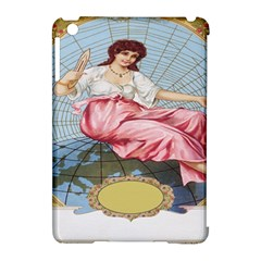 Vintage Art Collage Lady Fabrics Apple iPad Mini Hardshell Case (Compatible with Smart Cover)
