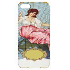 Vintage Art Collage Lady Fabrics Apple iPhone 5 Hardshell Case with Stand