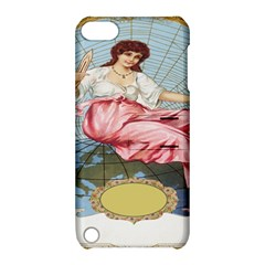 Vintage Art Collage Lady Fabrics Apple iPod Touch 5 Hardshell Case with Stand