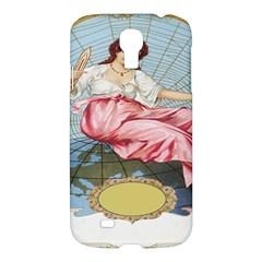 Vintage Art Collage Lady Fabrics Samsung Galaxy S4 I9500/I9505 Hardshell Case