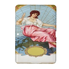 Vintage Art Collage Lady Fabrics Samsung Galaxy Tab 2 (10.1 ) P5100 Hardshell Case