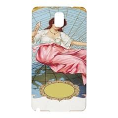 Vintage Art Collage Lady Fabrics Samsung Galaxy Note 3 N9005 Hardshell Back Case