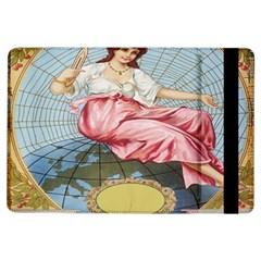 Vintage Art Collage Lady Fabrics iPad Air Flip