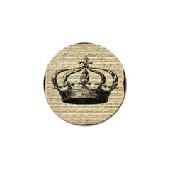 Vintage Music Sheet Crown Song Golf Ball Marker (4 Pack) by Nexatart