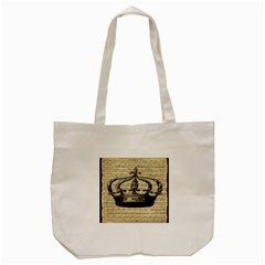 Vintage Music Sheet Crown Song Tote Bag (cream) by Nexatart