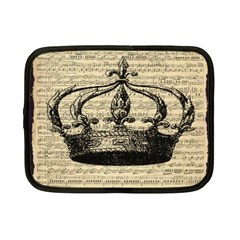 Vintage Music Sheet Crown Song Netbook Case (small)  by Nexatart