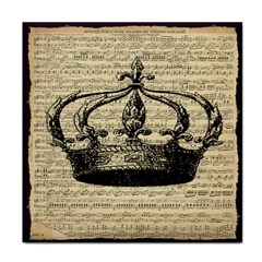 Vintage Music Sheet Crown Song Face Towel by Nexatart