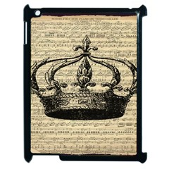 Vintage Music Sheet Crown Song Apple Ipad 2 Case (black)