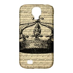 Vintage Music Sheet Crown Song Samsung Galaxy S4 Classic Hardshell Case (pc+silicone) by Nexatart