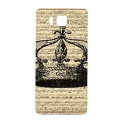 Vintage Music Sheet Crown Song Samsung Galaxy Alpha Hardshell Back Case