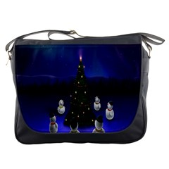 Waiting For The Xmas Christmas Messenger Bags
