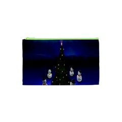 Waiting For The Xmas Christmas Cosmetic Bag (xs) by Nexatart