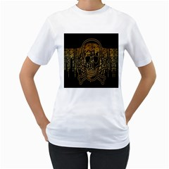 Virus Computer Encryption Trojan Women s T Shirt (white) (two Sided)