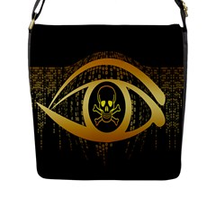 Virus Computer Encryption Trojan Flap Messenger Bag (l)  by Nexatart