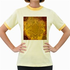 Vintage Scrapbook Old Ancient Women s Fitted Ringer T Shirts