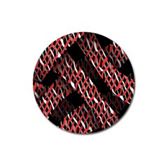 Weave And Knit Pattern Seamless Magnet 3  (round) by Nexatart