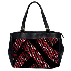 Weave And Knit Pattern Seamless Office Handbags by Nexatart