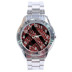 Weave And Knit Pattern Seamless Stainless Steel Analogue Watch by Nexatart
