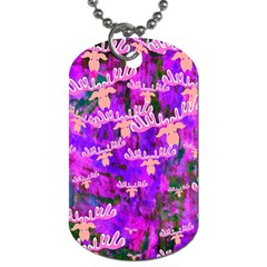 Watercolour Paint Dripping Ink Dog Tag (two Sides)