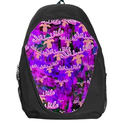 Watercolour Paint Dripping Ink Backpack Bag by Nexatart