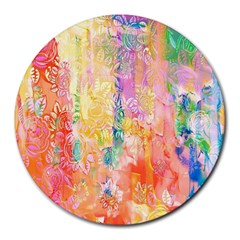 Watercolour Watercolor Paint Ink Round Mousepads