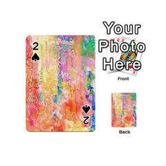 Watercolour Watercolor Paint Ink Playing Cards 54 (mini)