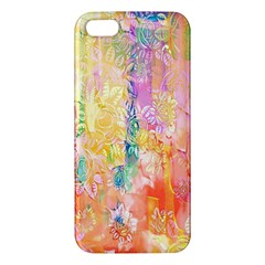 Watercolour Watercolor Paint Ink Apple Iphone 5 Premium Hardshell Case by Nexatart