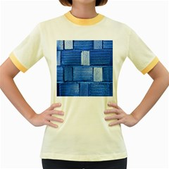 Wall Tile Design Texture Pattern Women s Fitted Ringer T Shirts