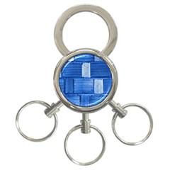 Wall Tile Design Texture Pattern 3 Ring Key Chains