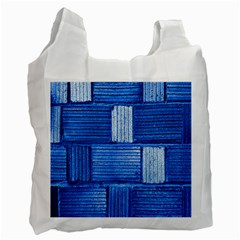 Wall Tile Design Texture Pattern Recycle Bag (one Side)